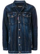 Dsquared2 Oversized Denim Jacket - Blue
