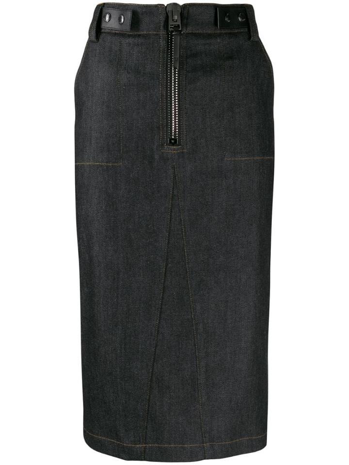 Tom Ford Denim Pencil Skirt - Black