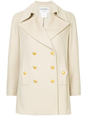 Chanel Vintage Double Breasted Peacoat - Nude & Neutrals