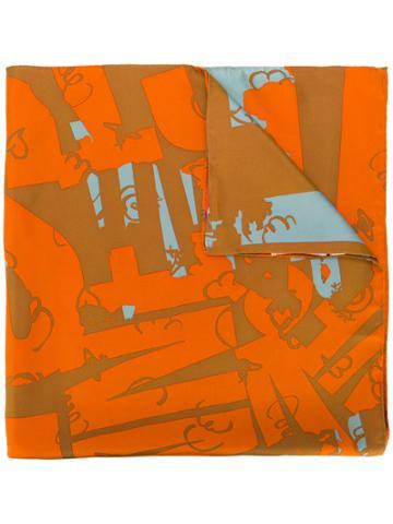 Vivienne Westwood Printed Scarf - Yellow & Orange