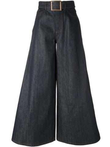 Jean Paul Gaultier Vintage Flared Belted Jeans