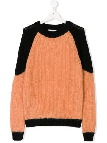 Les Coyotes De Paris Teen Colour Blocked Sweater - Neutrals