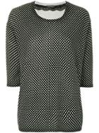 Twin-set Polka Dots Knitted Blouse - Black