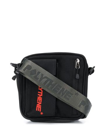 Polythene* Optics Welt Detail Messenger Bag - Black