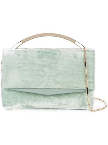Eddie Borgo Textured Cross Body Bag, Women's, Green, Leather/velvet/metal