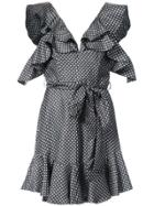 Zimmermann Mini Polkadot Frill Dress - Grey