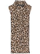 Veronica Beard Leopard Print Slate Dickey - Brown