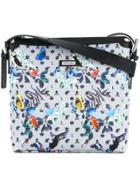Loveless Patterned Messenger Bag - Blue