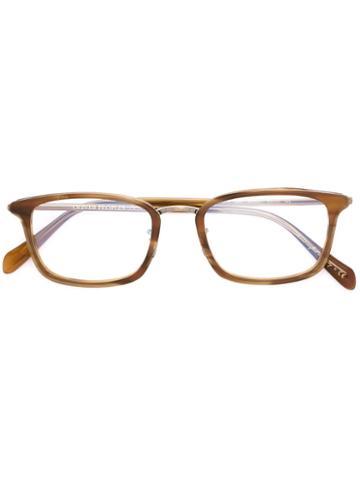 Oliver Peoples Brandt Glasses, Nude/neutrals, Acetate/metal