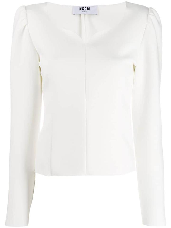 Msgm Structured Shoulders Blouse - White
