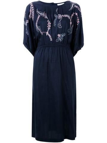 Megan Park Embroidered Flower Dress