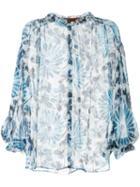 Missoni Floral Print Blouse - Blue