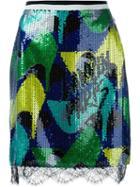 Lanvin Sequin Pencil Skirt