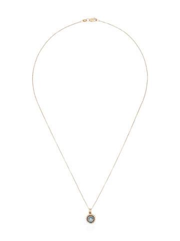 Ileana Makri Iridescent Evil Eye Pendant Necklace - Metallic