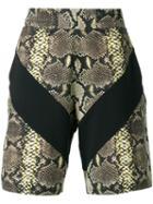 Givenchy Snakeskin Print Bermuda Shorts, Men's, Size: Large, Black, Cotton