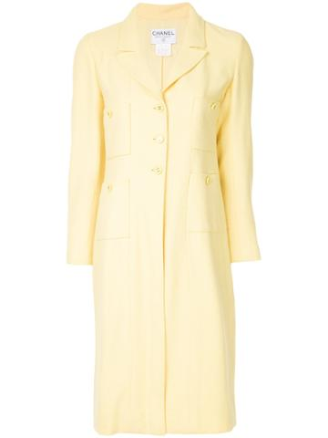 Chanel Vintage Patch Pockets Midi Jacket - Yellow & Orange
