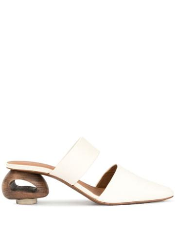 Neous Euanthe Mules - White