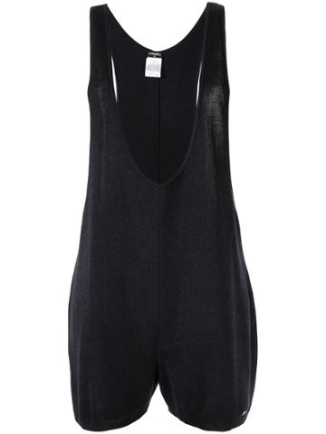 Chanel Pre-owned Plunging Neck Playsuit - Black
