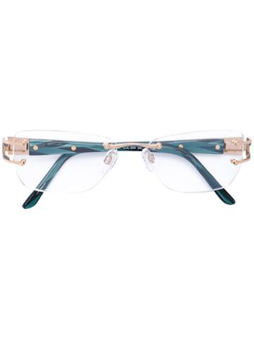 Cazal - Square Glasses - Women - Acetate/titanium - One Size, Green, Acetate/titanium