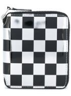 Comme Des Garçons Wallet Checkered Wallet - Black
