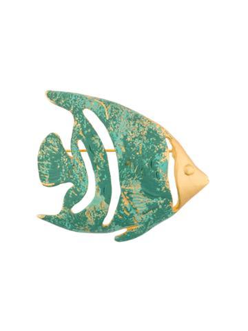 Givenchy Vintage Dreaming Sea Fish Brooch - Blue
