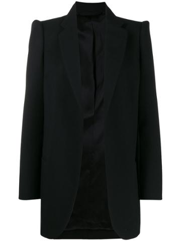 Balenciaga Structured Shoulders Blazer - Black