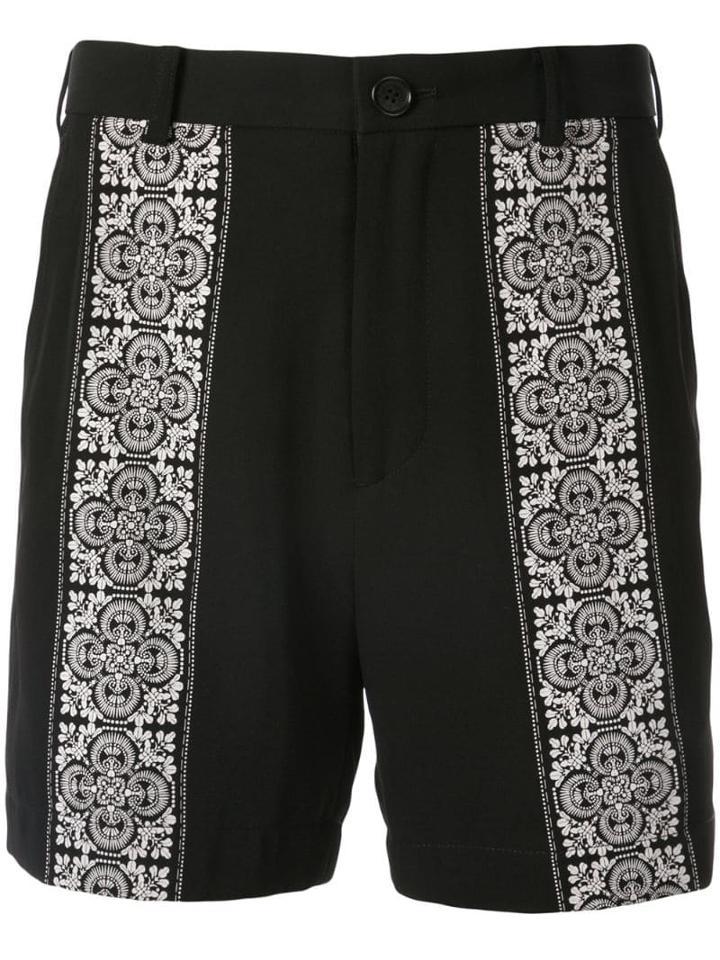 Loveless Tile Print Shorts - Black