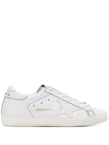 Golden Goose Superstar Embossed Logo Sneakers - White
