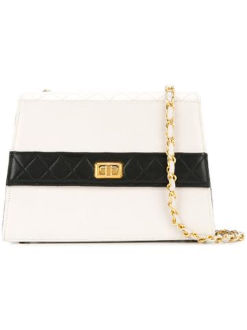Chanel Vintage Structured Quilted Bag - White
