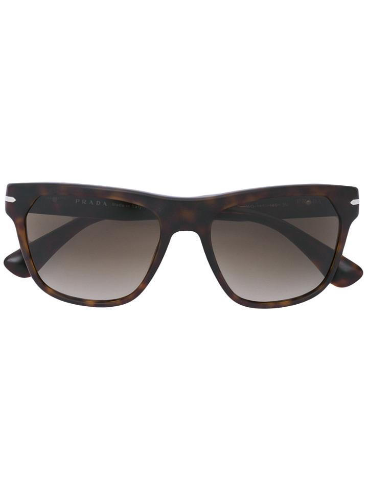Prada Eyewear 'pr03rs' Sunglasses - Brown