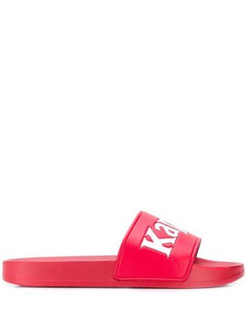 Kappa Logo Pool Slides - Red
