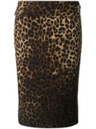 Tom Ford Leopard Print Pencil Skirt - Multicolour