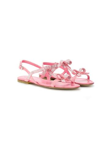 Andrea Montelpare Teen Bow Detail Sandals - Pink