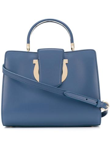 Salvatore Ferragamo - Bretagne Thea Bag - Women - Calf Leather - One Size, Blue, Calf Leather