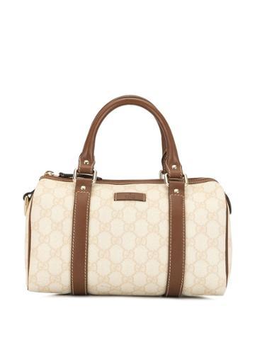 Gucci Pre-owned Gg Pattern Mini Boston Hand Bag - White