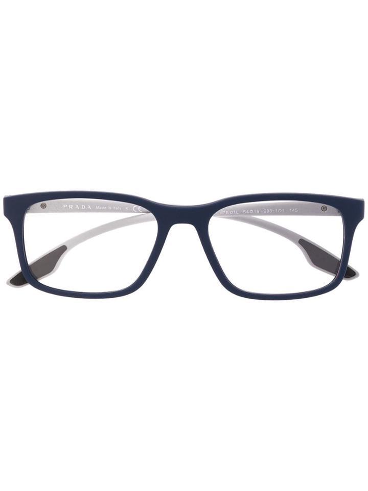 Prada Eyewear Square Glasses - Blue