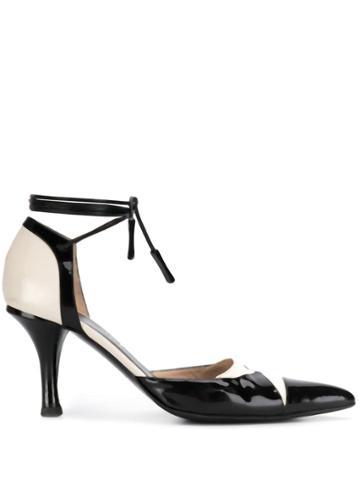 Chanel Vintage 2000's Tied Ankle Pumps - Black