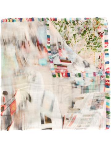 Faliero Sarti Printed Distortion Scarf - Multicolour