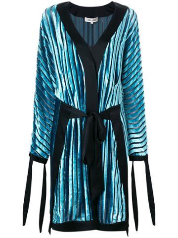 Dvf Diane Von Furstenberg Velvet Wrap Dress - Blue