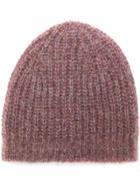 Isabel Marant Ribbed Knit Beanie - Pink