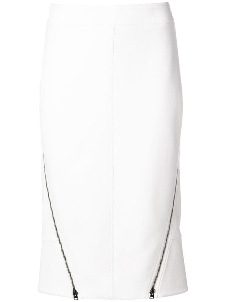 Tom Ford Zip Fastened Tailored Skirt - White