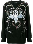 Givenchy Bird Printed Sweatshirt - Black