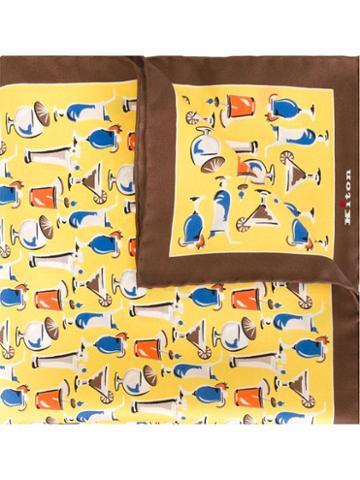 Kiton Cocktails Print Pocket Square