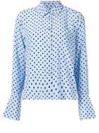 Equipment Polka-dot Shirt - Blue