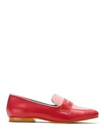 Blue Bird Shoes Loafer Boyish Heart - Red