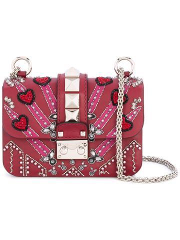 Valentino - Garavani Love Blade Shoulder Bag - Women - Calf Leather/plastic/glass - One Size, Red, Calf Leather/plastic/glass