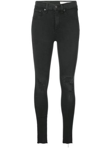 Rag & Bone /jean Distressed Skinny Jeans - Black