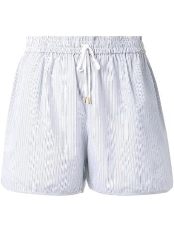 Megan Park Pinstripe Shorts