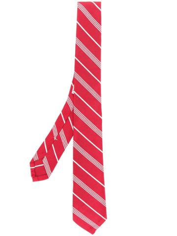 Thom Browne Small Repp Stripe Necktie - Red