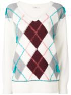 Closed Argyle Knit Sweater - White